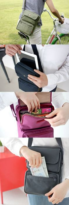 You can travel with confidence, thanks to this cute & useful travel bag! It has 4 compartments to store your essentials as well as several inner pockets to help you stay organized! There's a designated pocket for your iPad or tablet & the zippered front pockets will safeguard your passport, cash, cards, & boarding pass. It's no problem to carry a map, guide book, or even a journal! You can also fit an umbrella, water bottle, or a book too! Check out this awesome travel bag before your next…