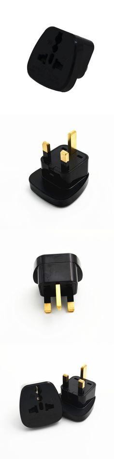 10pcs/lot Universal AU EU US To UK Plug with safety door Singapore United Kingdom Plug Socket Travel Wall Adapter Converter