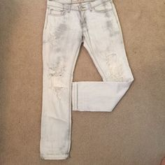 HOT JBrand Zombie Straight Leg Jeans Love love love these jeans but they are a size too big! They are very gently warn as I wore them slouchy with a fitted tank a few times. They are discontinued by JBrand and are one of a kind! J Brand Jeans Straight Leg