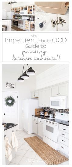 AWESOME guide to painting kitchen cabinets that breaks it down into super easy directions and checklists, including a printable guide!!