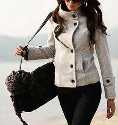 Cappotto donna colorato caldo cappottino giacca sexy sensuale comodo giubbotto
