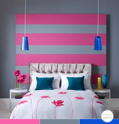 Cute for a teen girl's room. I'd have to switch the pink with another bright color, but I love how vibrant it all looks.