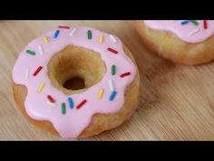 Ever since we got a donut pan, we have searched for a good recipe. It's really hard to find a donut recipe that isn't heavy and has a ton of butter, this one seemed really good, must try! ▶ SIMPSONS GLAZED DONUTS - NERDY NUMMIES - YouTube