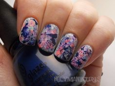 Holy Manicures: Watercolor Splatter Nails.