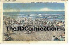 Galveston Beach Scene Greetings from Galveston by TheIDconnection, $20.00