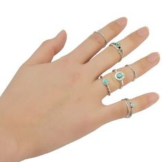 GET $50 NOW   Join RoseGal: Get YOUR $50 NOW!http://m.rosegal.com/rings/stylish-7-pcs-set-faux-turquoise-embossed-rings-for-women-509839.html?seid=6822138rg509839