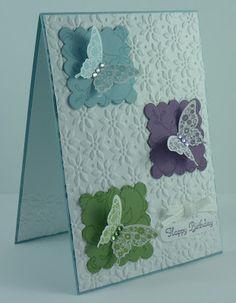 .easy pretty butterflies card