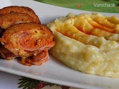 Roláda z mletého masa plněná sýrem (fotorecept) - Recept
