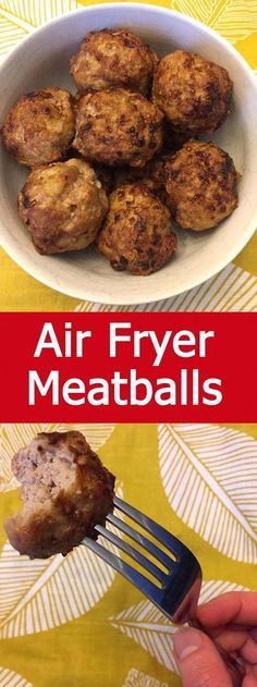 These air fryer meatballs are amazing! Cooking meatballs in the air fryer is so quick and easy! These meatballs are crispy on the outside, juicy and tender on the inside, so yummy! Air Fryer Recipes Snacks, Air Fryer Recipes Breakfast, Air Frier Recipes, Air Fryer Dinner Recipes, Airfryer Breakfast Recipes, Air Fryer Review, How To Cook Meatballs, Cooking Meatballs, Air Fryer Recipes Meatballs