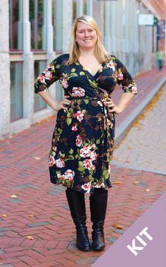 Cashmerette Patterns Appleton Dress | Floral Fabric Kit