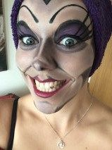 Yzma face paint for costume The Emperor's New Groove