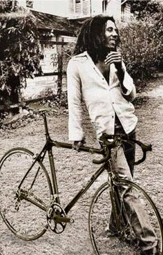 Bob Marley and bike...