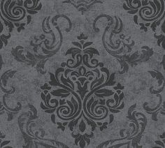 Vliestapete Barock Glitzer AS Creation schwarz 95372-3