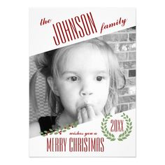 Custom Photo Personalized Holiday Christmas Card SOLD on Zazzle