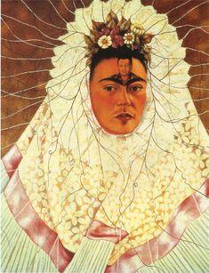 Autorretratto como una tehuana o Diego en mi mente - Frida Kahlo. Colección Jacques y Natasha Gelman, Ciudad de México. 1943