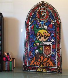 Stained Glass Link by li_mona_de #Zelda