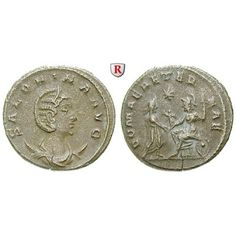 Römische Kaiserzeit, Salonina, Frau des Gallienus, Antoninian 255-256, ss+: Salonina, Frau des Gallienus +268. Billon-Antoninian… #coins