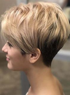 Easy-To-Manage Undercut Pixie # short hair styles pixie fine 100 Mind-Blowing Short Hairstyles for Fine Hair Short Hair With Layers, Short Hair Cuts For Women, Short Hairstyles For Women, Bob Hairstyles, Straight Hairstyles, Shaved Hairstyles, Medium Hairstyles, Short Curls, Short Braids