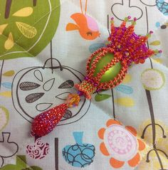 """Marcia Decoster's """"A Touch Of Whimsy,"""" beaded by Sian Nolan"""