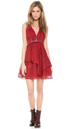 Free People Leia Embroidered Dress-so unique, the back is amazing