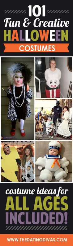 The motherload of DIY, creative Halloween costumes!! Including ideas for couples, families, and kids.