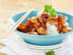 Kiinalaista kanaa Thai Recipes, Kung Pao Chicken, Chinese Food, Potato Salad, Recipies, Food And Drink, Tasty, Asian, Baking