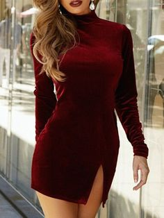 Shop Red Long Sleeve Lace Hem Slim Dress online. SheIn offers Red Long Sleeve Lace Hem Slim Dress & more to fit your fashionable needs.