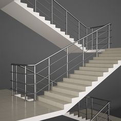 Buy Office Stairs by on Stairs model Includes files: Fbx; Steel Railing Design, Diy Stair Railing, Staircase Railing Design, Home Stairs Design, Railings, Gate Wall Design, House Main Gates Design, Front Door Design Wood, House Outside Design