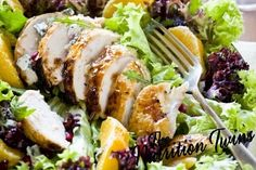 "Orange Chicken Salad | Get your vitamin C ""fix"" and immune booster with this salad 