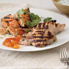 An Indian classic! Chicken Tikka with Indian-Style Sweet Potato Salad