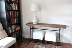Pk and I recently undertook a fun diy project. We made a console table out of black pipe and wood salvaged from a barn that belonged to his family in Michigan. I'm really happy with how it turned o...