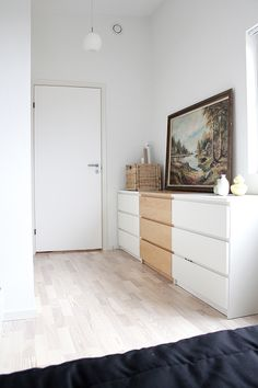 How To Incorporate Ikea Malm Dresser Into Your Decor Decor, Bedroom Tv Wall, Interior, Bedroom Design, Ikea, Home Decor, Malm Dresser, Ikea Furniture, Interior Design