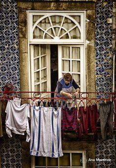 #porto #fachada #roupas #estendal