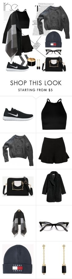"""Grey scale"" by mvrry ❤ liked on Polyvore featuring NIKE, Boohoo, American Apparel, Sans Souci, H&M, David Yurman, black and grey"