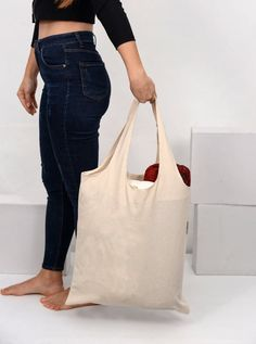 Womens Canvas Tote Bag Christmas Shopping Bag with Zipper Pocket Inside and Long Handles