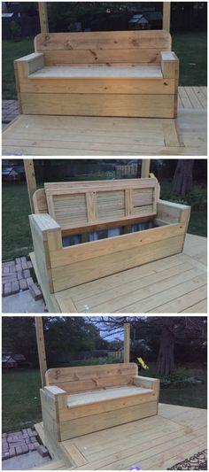 DIY outdoor bench/ sofa with storage