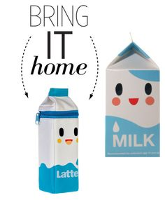 """""""Bring It Home: Tokidoki Latte Carton Pencil Case"""" by polyvore-editorial ❤ liked on Polyvore featuring interior, interiors, interior design, home, home decor, interior decorating, Tokidoki and bringithome"""