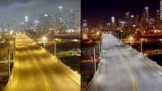 Before and after installing LED street lights.. #Follow Me #CooliPhone6Case on Twitter Facebook Google Instagram LinkedIn Blogger Youtube