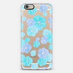 Blossoms Aqua Turquoise - Transparent/Clear background