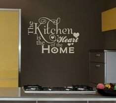 25x16 Kitchen Heart Home Decal Shabby Chic Decor Vinyl Wall Lettering Words Quotes Decals Art Custom Willow Creek Signs