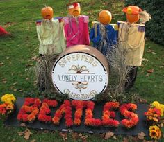 """The Beatles"" Scarecrow Contest entry!"