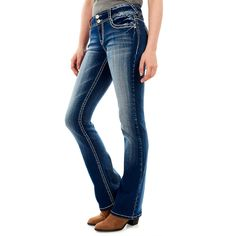 These juniors' Wallflower bootcut jeans are great for weekend wear. In medium blue wash. Ripped Knee Jeans, Ripped Jeggings, High Waist Jeans, Plus Size Jeans, Camouflage Jeans, Wallflower Jeans, Juniors Jeans, Kohls Juniors, Trendy Swimwear