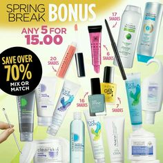 How about a Spring beauty break? Our 5 for $15 offer is on now. Check it out because just like spring, it won't last long. Ends March 8, 2017