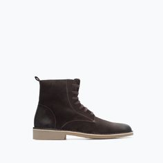 Image 1 of LEATHER DESERT BOOT from Zara