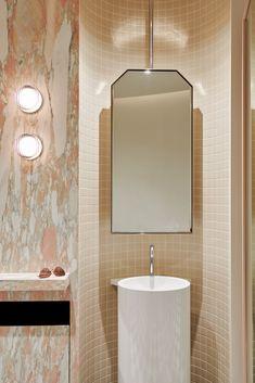 Powder Rooms, Interior Architecture, Bathrooms, Mirror, Design, Home Decor, Architecture Interior Design, Decoration Home, Bathroom