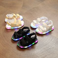 >> Click to Buy << 13.5-15.5CM baby led shoes double hook loop microfiber rubber soft leather t-strap sandal for kids boy #Affiliate
