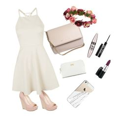 """""""Mariage"""" by justcarlachannel ❤ liked on Polyvore featuring Jessica Simpson, Givenchy, Forever 21, Ted Baker, MAC Cosmetics, Casetify, Topshop, Maybelline and Urban Decay"""