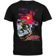 I found 'Nintendo - Zelda Action T-Shirt (Size XL; Color Black)' on Wish, check it out!
