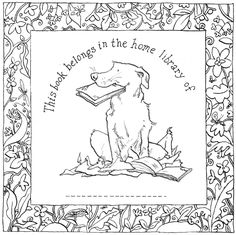 This book belongs in the home library of....... (by Anita Jeram)