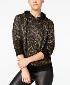 Material Girl Active Juniors' Metallic Hoodie, Only at Macy's $19.99 Add sparkle to your loungy look with this fabulous hoodie from Material Girl Active.